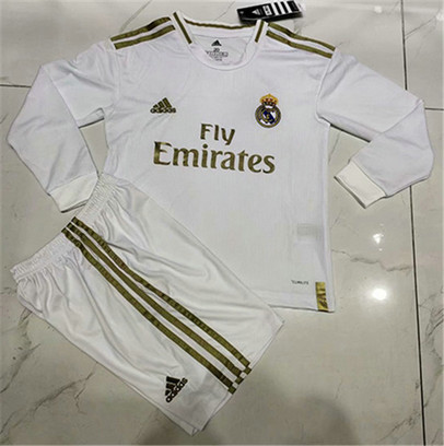 Camiseta Cfb3 B108 Real Madrid 1ª Equipación Manga Larga 2019/2020 Kit Niños & Junior