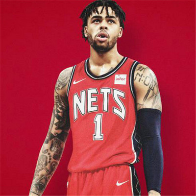 Camiseta cfb3 A004 D'Angelo Russell, Brooklyn Nets - Retro