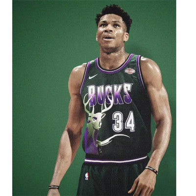 Camiseta cfb3 A026 Giannis Antetokounmpo, Milwaukee Bucks - Retro