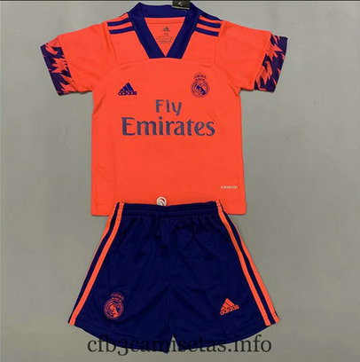 Cfb3camisetas : Camiseta Real Madrid 2ª Naranja 2020/21 Kit Niños & Junior baratas
