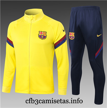 Cfb3camisetas : Chaqueta Chandal Barcelona Amarillo 2020 - JUNIOR & Niños replicas