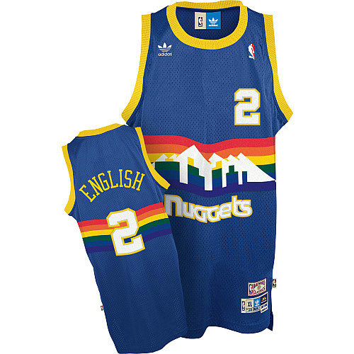 Camiseta cfb3 C258 Alex English, Denver Nuggets [Azul]