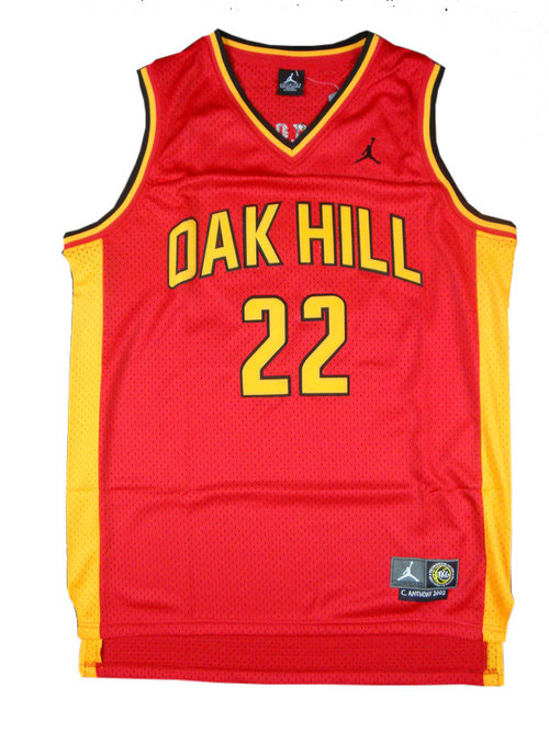 Camiseta cfb3 C852 Carmelo Anthony, Oak Hill [Roja]