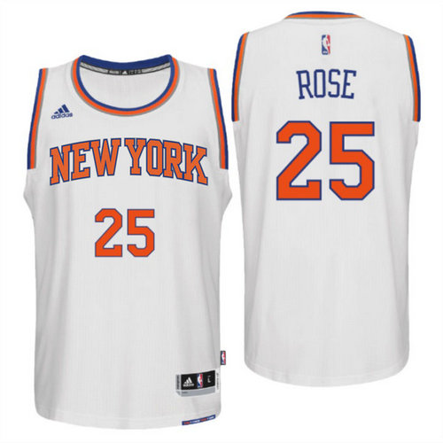 Camiseta cfb3 C605 Derrick Rose, New York Knicks [Blanca]