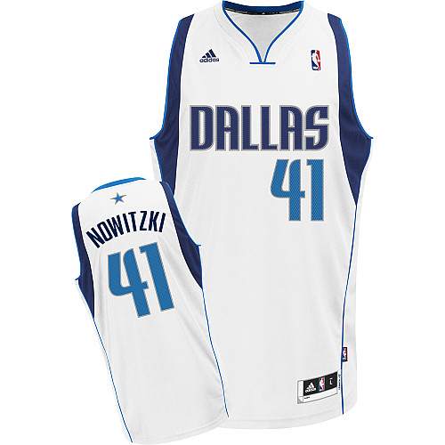 Camiseta cfb3 C471 Dirk Nowitzki Dallas Mavericks [Blanca]