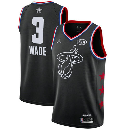 Camiseta cfb3 C036 Dwyane Wade - 2019 All-Star Negro