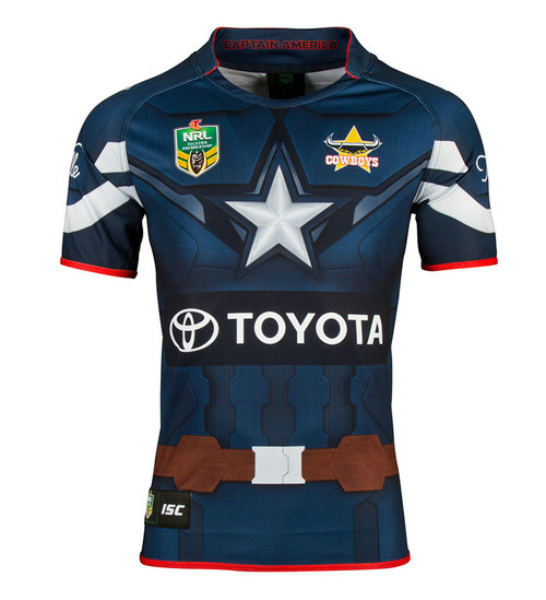 Camiseta cfb3 C2764 ISC North Queensland Cowboys – Captain America NRL S/S 2017