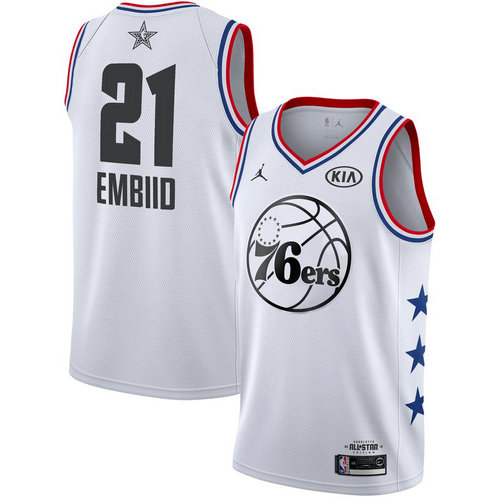 Camiseta cfb3 C051 Joel Embiid - 2019 All-Star Blanco