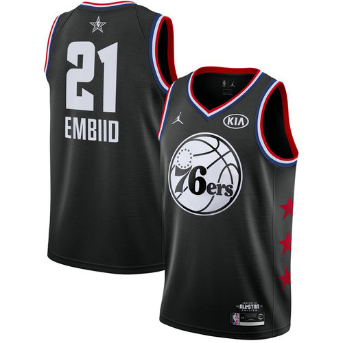Camiseta cfb3 C052 Joel Embiid - 2019 All-Star Negro