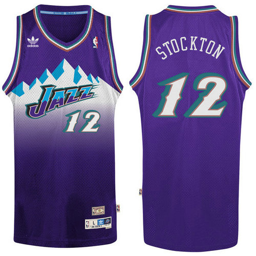 Camiseta cfb3 C824 John Stockton, Utah Jazz [Purple]