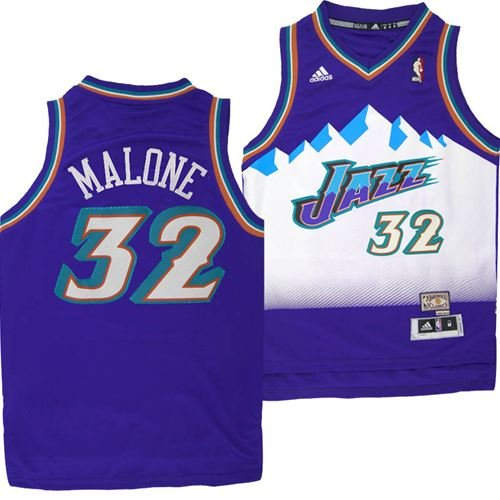 Camiseta cfb3 C826 Karl Malone, Utah Jazz [Purple]