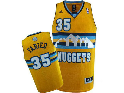 Camiseta cfb3 C265 Kenneth Faried, Denver Nuggets [Amarilla]