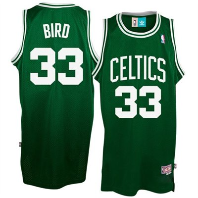 Camiseta cfb3 C122 Larry Bird Boston Celtics [Verde y blanca]