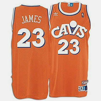 Camiseta cfb3 C252 LeBron James, Cleveland Cavaliers - Orange Hardwood Classics