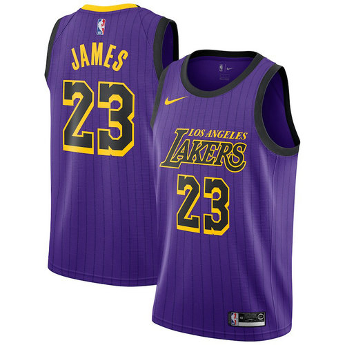 Camiseta cfb3 C440 LeBron James, Los Angeles Lakers 2018/19 - City Edition