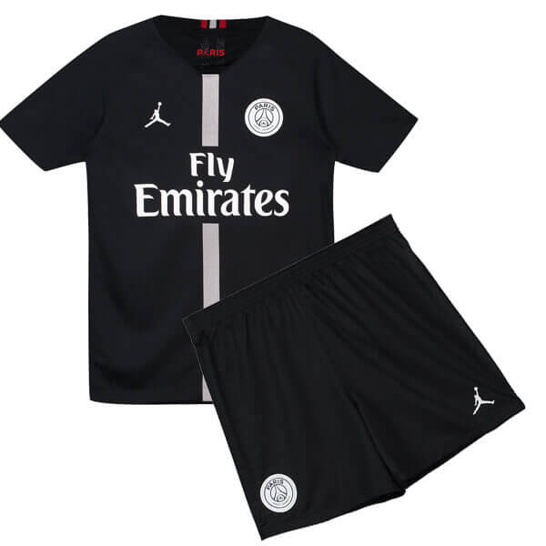 Camiseta cfb3 C1978 PSG x Jordan 3ª Negra 2018/19 Kit Junior