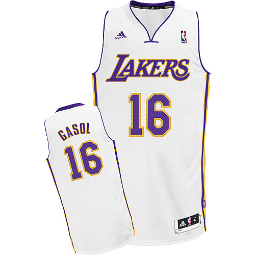 Camiseta cfb3 C457 Pau Gasol, Los Angeles Lakers [Blanca]