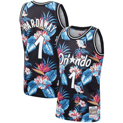 Camiseta cfb3 C651 Penny Hardaway, Orlando Magic - Mitchell & Ness Floral Pack