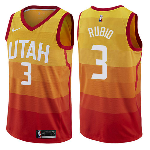 Camiseta cfb3 C828 Ricky Rubio, Utah Jazz - City Edition