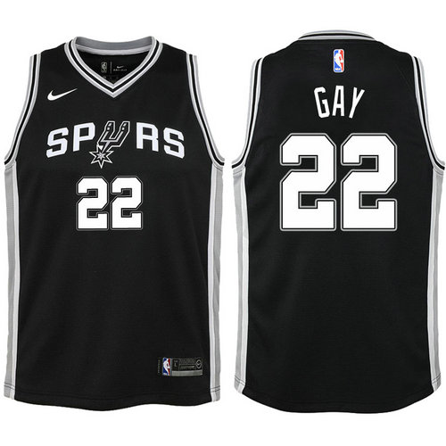 Camiseta cfb3 C754 Rudy Gay, San Antonio Spurs - Icon