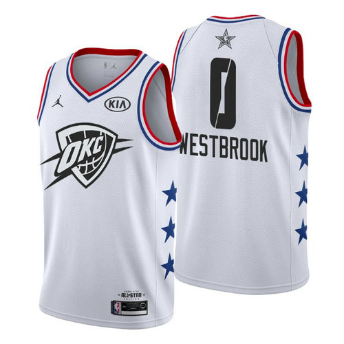 Camiseta cfb3 C082 Russell Westbrook - 2019 All-Star Blanco