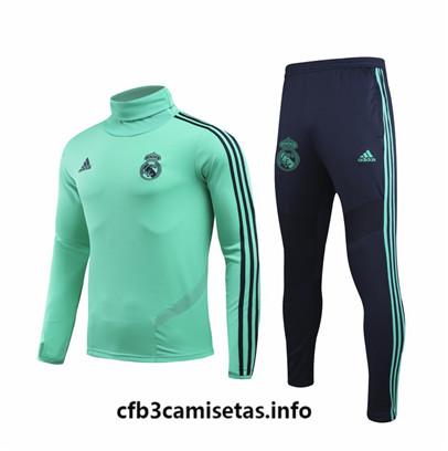 Camiseta cfb3 F053 Chandal Real Madrid champions league Verde Cuello alto 2019/20